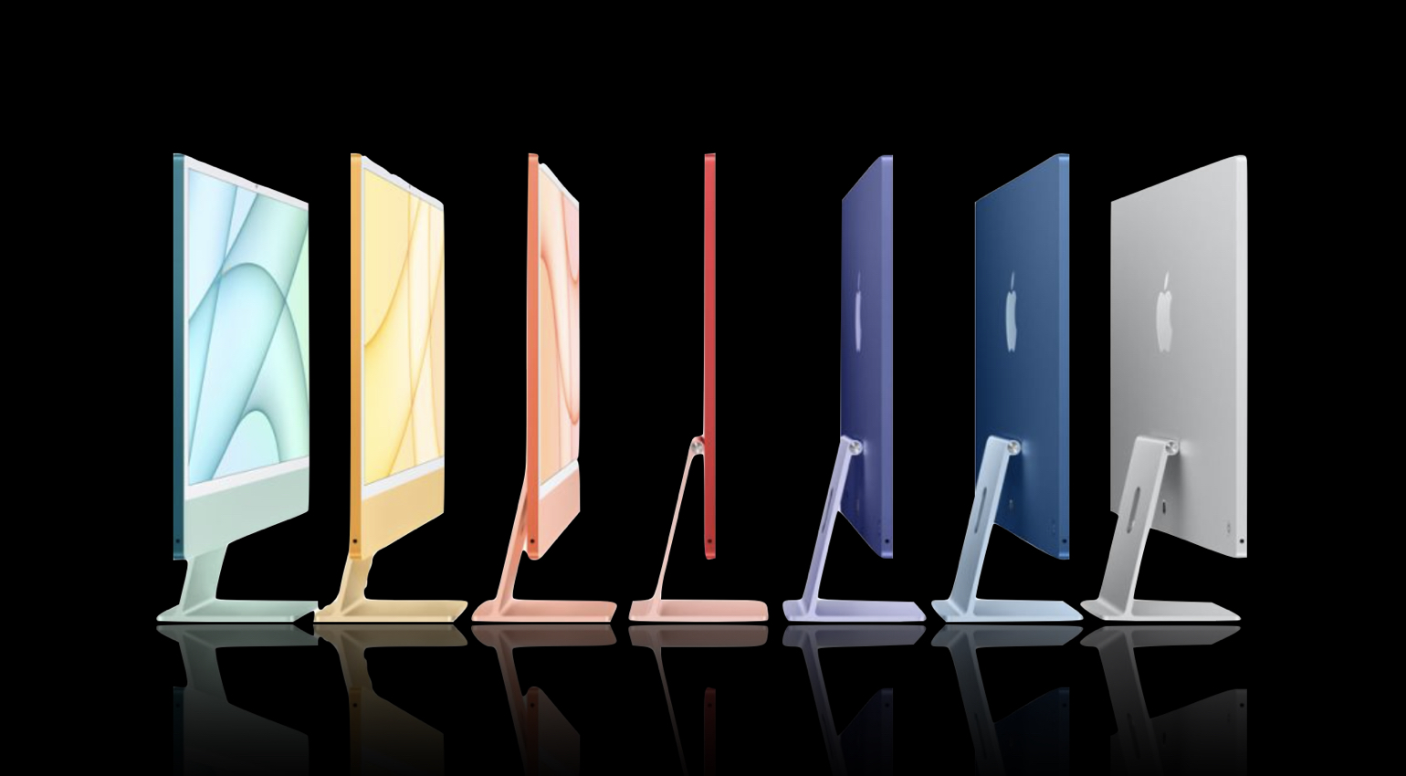 Apple adds the M1 chip to a new iMac 24