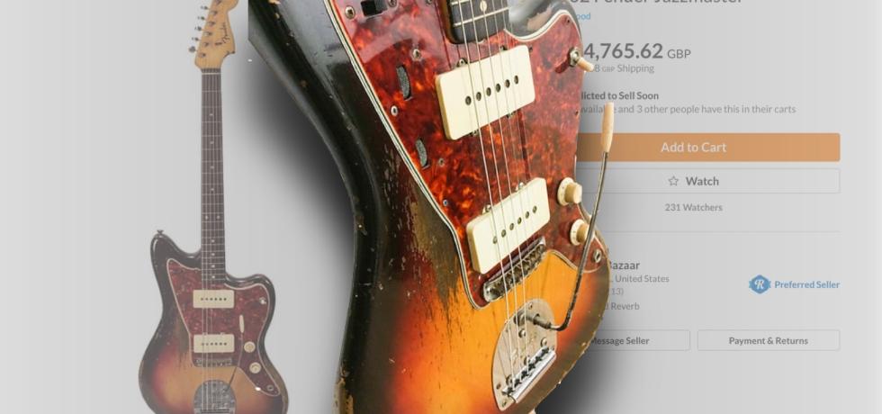 Jimi Hendrix 1962 Fender Jazzmaster in Sunburst