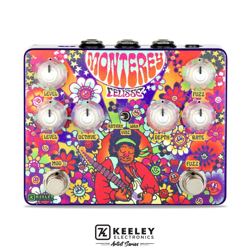 New Keeley Electronics limited edition Celisse Artist Monterey with stunning graphics