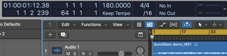 Logic Pro Custom Meters now showing on the right-hand side