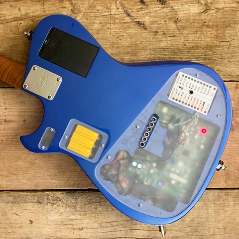 The Whammy Midi Guitar, which is crammed with tech!