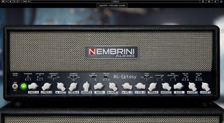 Nembrini Audio BG Extasy main plug-in window